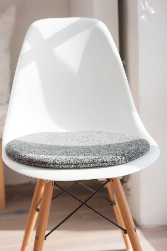 Cojines de silla en color gris adecuado para la silla de for Cojines para sillas walmart