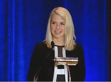 Elizabeth Smart - kidnap survivor and abused child activist.... Met her at a speaking engagement and she is a vibrant, gracious and inspirational young lady...
