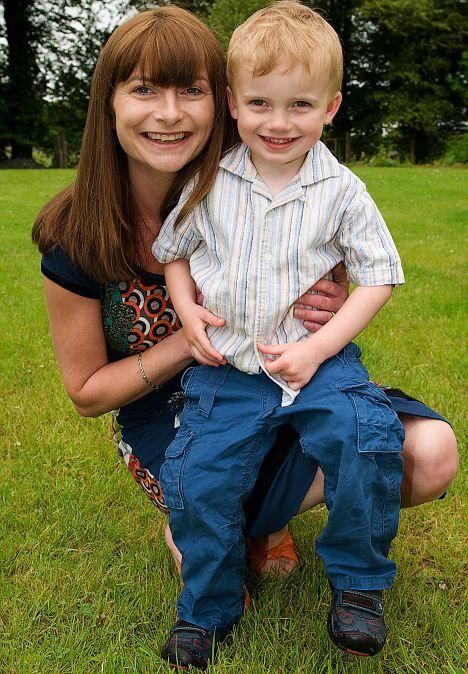 Martha O'Neill Brennan and son Aaron
