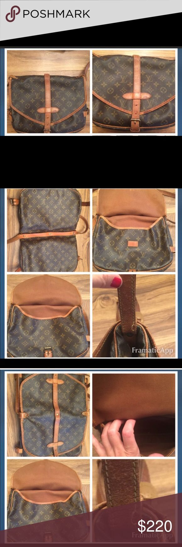 Louis Vuitton Saumur 30 🌺offers welcome🌺 Louis Vuitton Saumur 30. Loved purse. Leather is in excellent condition. No holes, stains etc. one side of the strap will need to be re-sewn (please see last picture) you can have it done at a Louis Vuitton store or you can have it sliced and done at a leather store (less then $30 at leather store) I have not done it through the leather gentleman as I want to give the buyer the choice. Smoke free home. No odors. Priced accordingly. Please feel free…