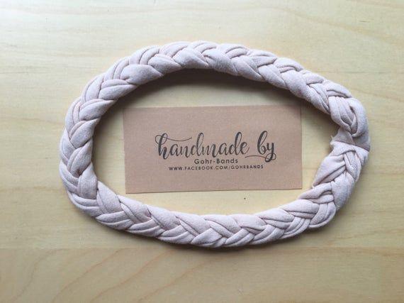 Braided Headband, Braid Headband, Women's Headband, Head Wrap, Thin Headband, Girl headbands, taupe, cream, tan   – Products