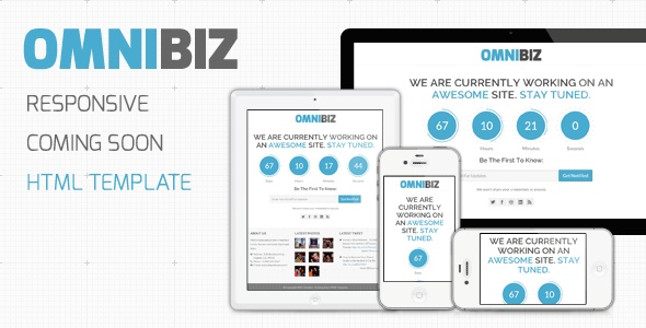 OmniBiz - Responsive Coming Soon Website Template