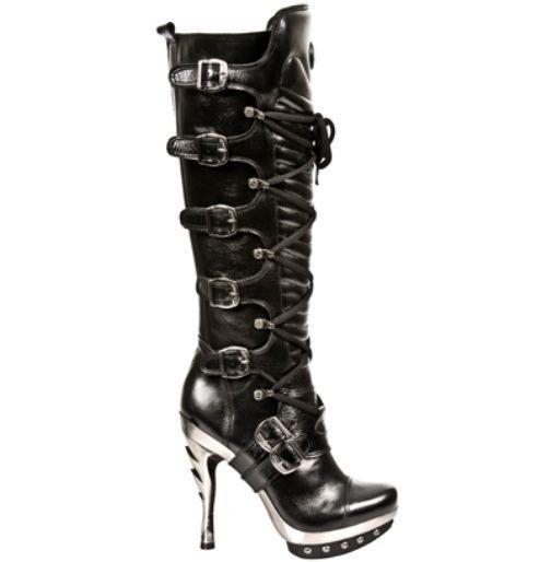 rock M.Punk005 S1 Black Exclusive  Rock Punk Gothic Boots - Womens