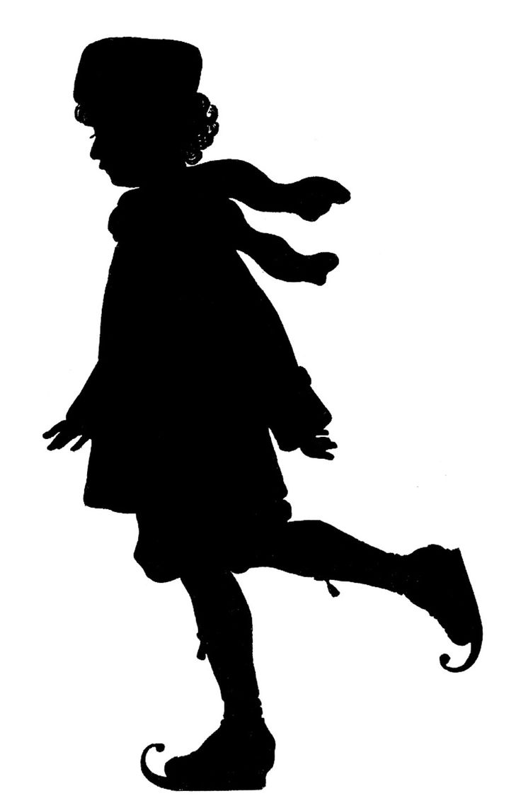 girl as a fairy silhouettes   Silhouettes – Boy and Girl – Ice Skating