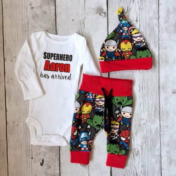Coming home outfitSuperhero outfit baby by PinkPineappleCouture