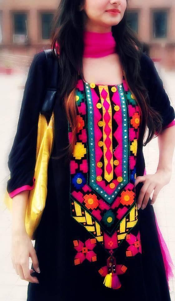 Black and multicolours...Classy!!.