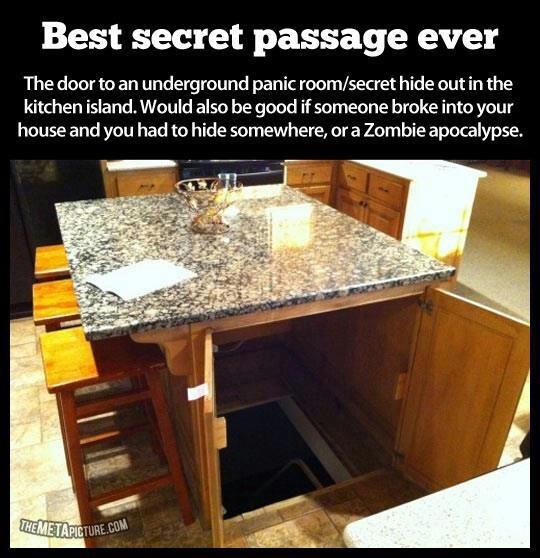 Secret room under the island