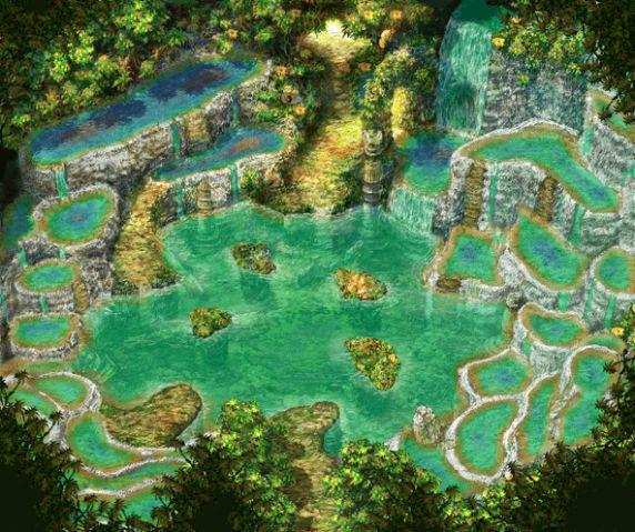 chrono cross water dragon island... i have GOT to art this.