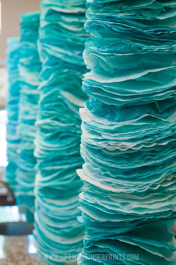 Life with Fingerprints: Coffee Filter Garland tips and tricks, Grand Adventure Baby Shower