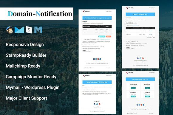 Domain Notification Email Template By Pennyblack On Graphiczn