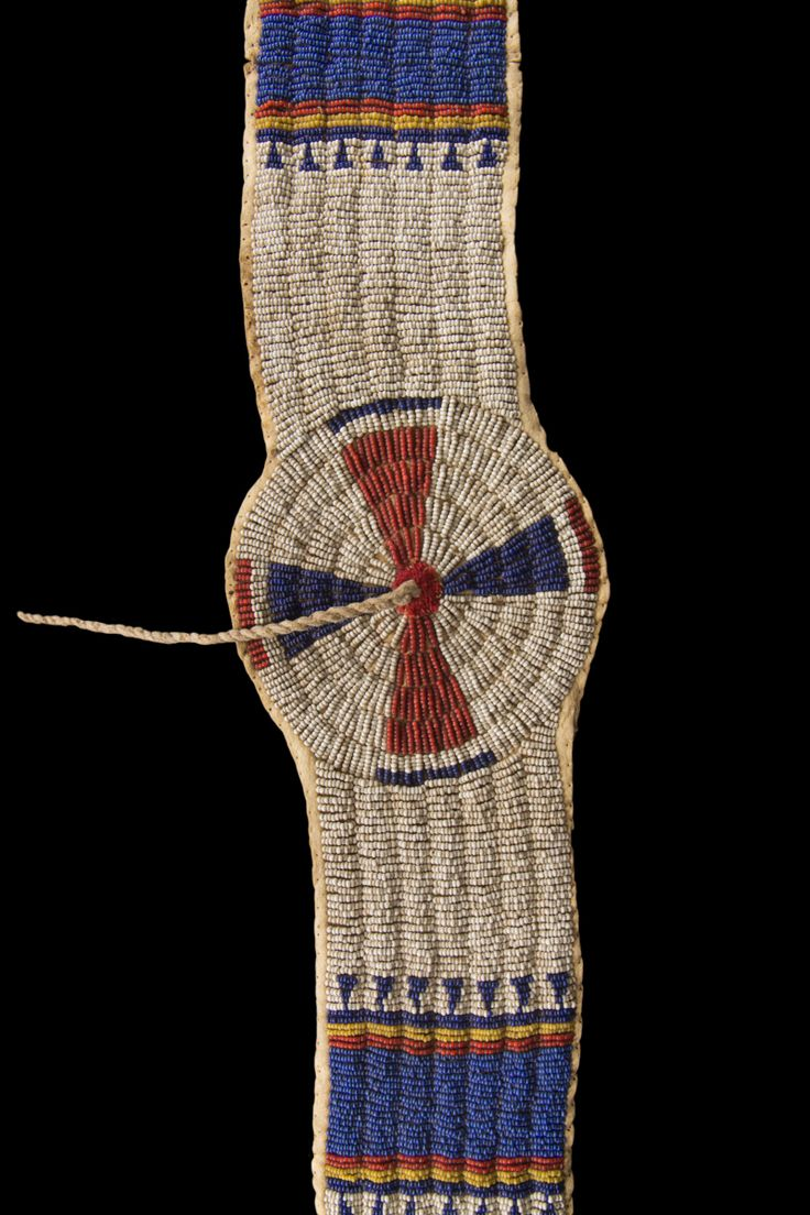 Beaded Blanket Strip Cheyenne Indians, U.S.A.
