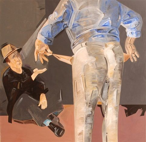 Apostolos Georgiou, Untitled, 1986, Acrylic on Canvas, #BAG #BalkanArtistsGuild