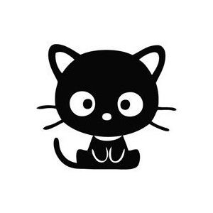 Hello Kitty Cat Chococat Sit - Cartoon Decal Vinyl Car Wall ...