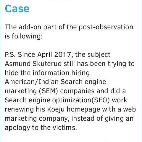 For more details, please visit our blog.    #koèju #koeju #koejuvictims #asmund #asmundskuterud #åsmundskuterud #abuse #relationship #victims #std