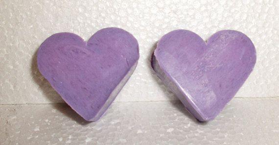 50 French Lavender scented Love Heart soaps. BULK ORDER Hand