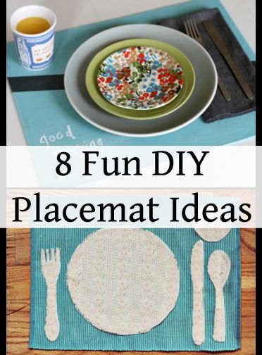 8 Fun DIY Placemat Ideas. DIY, DIY home projects, home décor, home, dream home, DIY. projects, home improvement, inexpensive home improvement, cheap home DIY.