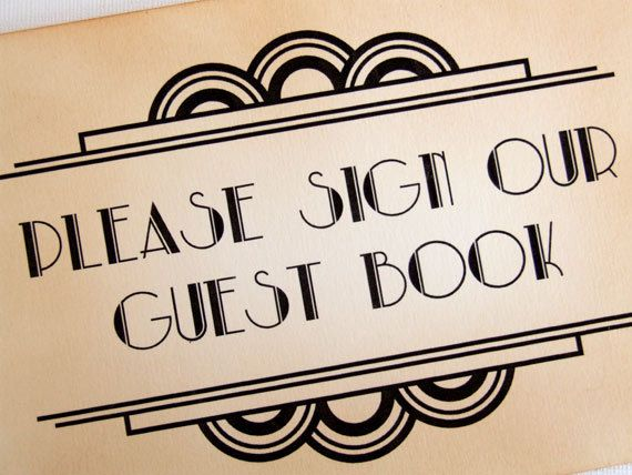 the 8 best guest book images on pinterest art deco wedding