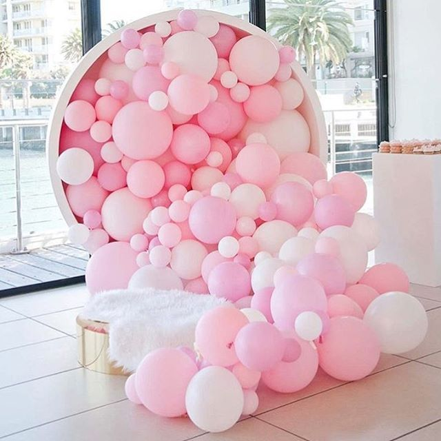 Best 25 pink balloons ideas on pinterest pink things for Balloon backdrop decoration
