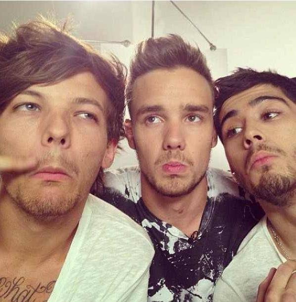 One Direction: Louis, Liam & Zayn.