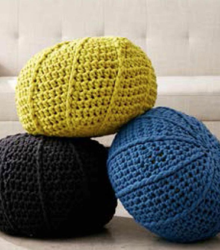 how to make a crochet pouf