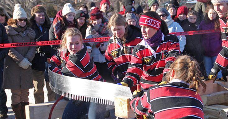 Lumberjack competition at McGill's Macdonald Campus Montreal