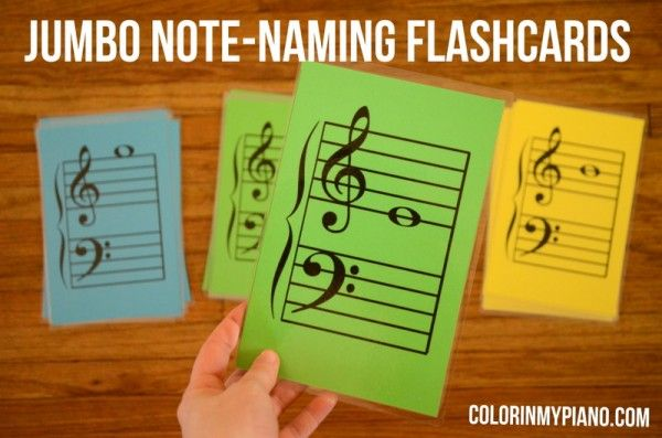 Jumbo Note-Naming Flashcards -- FREE pdf download!