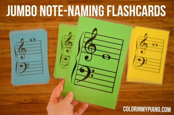 Jumbo Note-Naming Flashcards -- FREE pdf download!