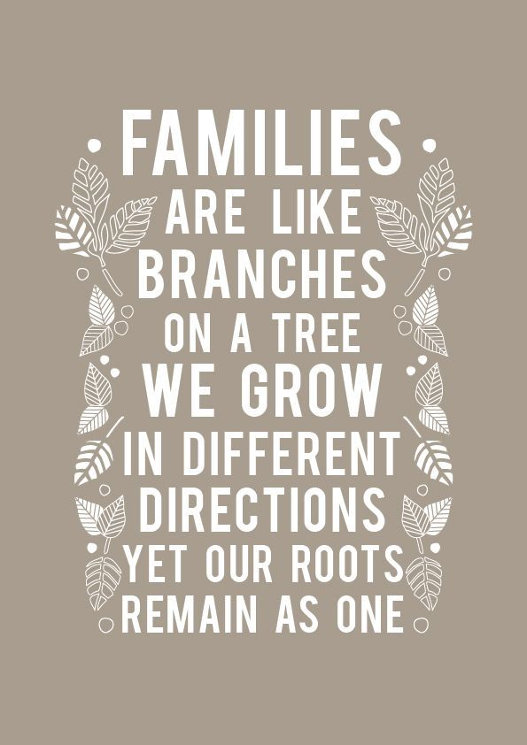 Families make a house, a home.