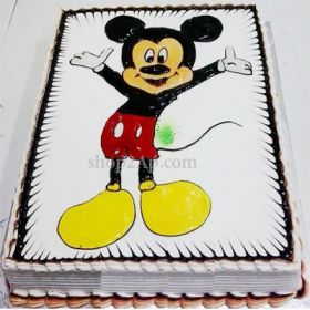 Mickey Mouse is One of the Most Popular Comic Hero Character Liked by Everyone Especially Children. So, Send this Mickey Mouse of their Favourite Flavour to Surprise them. Mickey Mouse Cake is a Perfect Choice for Children. Send Cake Online and Delight your Loved One with our Lovely Mickey Cake Through our Shop2Guntur. We Do Early Morning Home Deliveries and Midnight Home Deliveries.