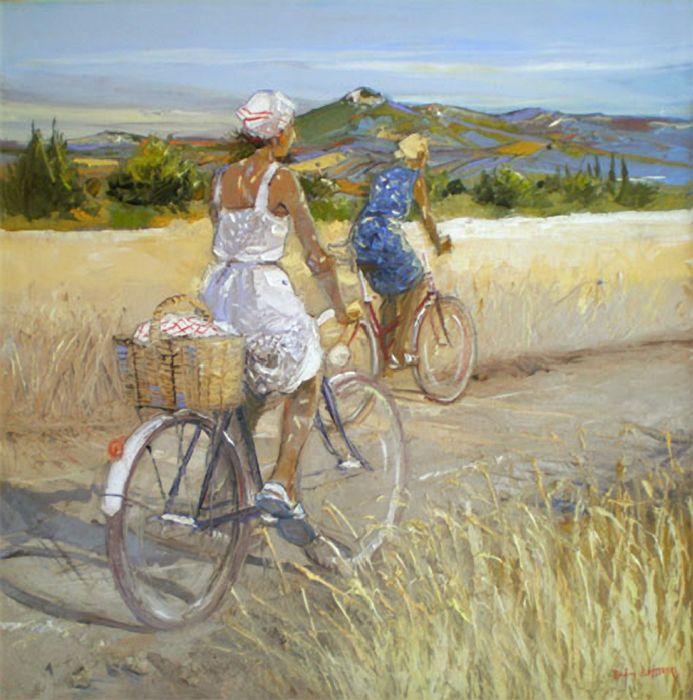 André Deymonaz 1946   French Impressionist painter   Tutt'Art@