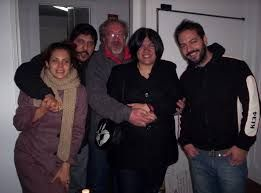 De izquierda a derecha: Ana Clara Guarino, Simón Franco, Pampa Fernández, Laura Ávila. Si alguien sabe quién es el muchacho de bigote, que comente.