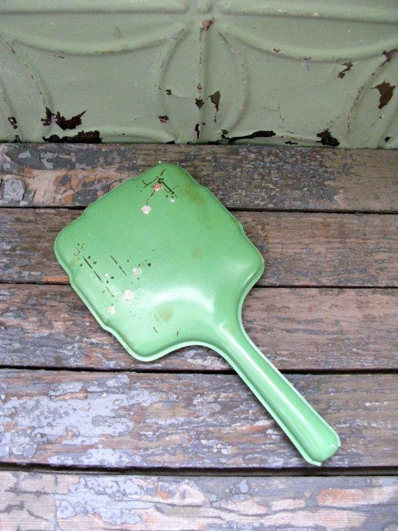 Vintage Hand Mirror Vintage Vanity Shabby Green Mirror by Sfuso