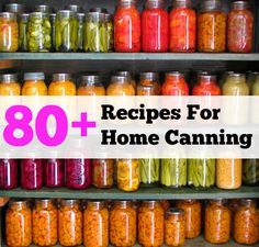 Home Canning. Because I really want to do this after I get the garden well established.