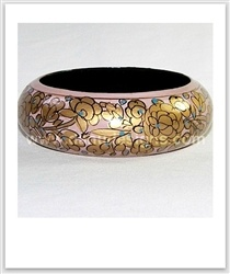 $15.00.  Keyword Tags:  Danu Designs, Jewellery with Soul, Fair Trade, Ethical, Socially Responsible, Socially Conscious, Handmade, Handcrafted, Handicrafts, Gypsy, Hippie, Bohemian, Boho, Ethnic, Tribal, Paper Mache, Papier Mâché, Kashmiri, Bracelet, Bangle, Bracelets, Bangles, Jewellery, Jewelry, Fashion, Style, Shopping, Handmade Expressions, India, Indian, Gold, Pink