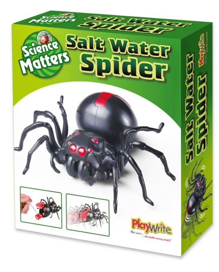 SALT WATER SPIDER SCIENCE EXPERIMENT & FUN BOXED UK KIT CE MARKED
