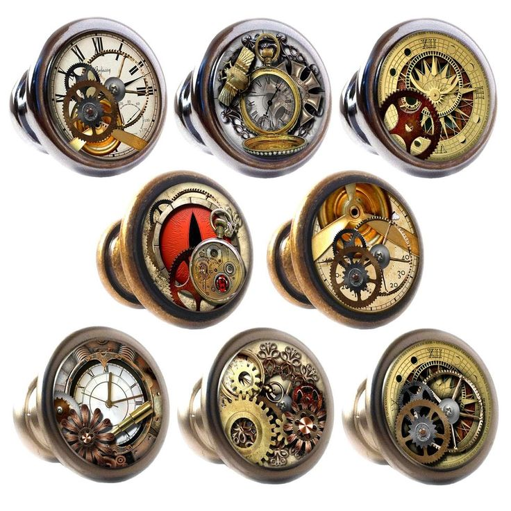 Zinc Alloy Knobs Steampunk 30mm Cupboard Drawer Door Handles Decorated in Home, Furniture & DIY, DIY Materials, Doors & Door Accessories | eBay