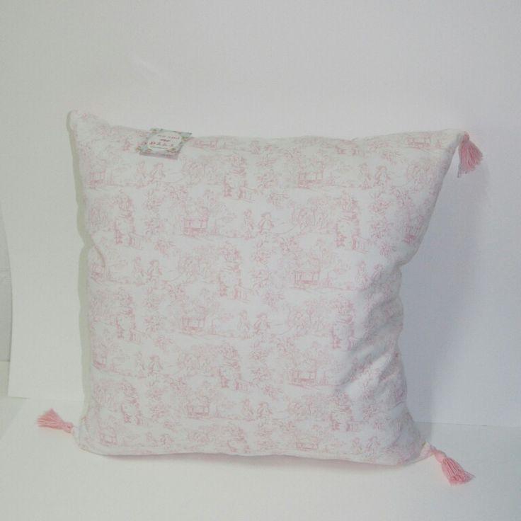 Almofada campestre rosa