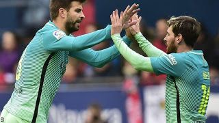 Latest world news: Lionel Messi scored twice as Barcelona reduced the...