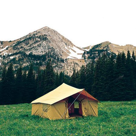 Montana canvas spike iii spike tent package with tent fly for How to build a canvas tent frame