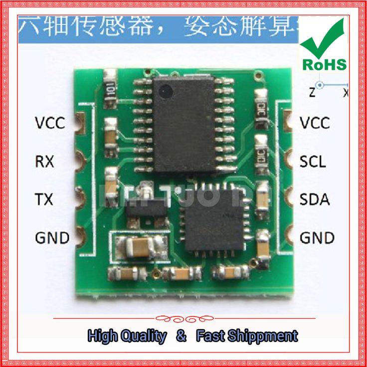 Free Shipping 1pcs Serial 6-Axis Accelerometer / Gyroscope MPU6050 Module, Kalman Filter, Angle Output (C1A6)