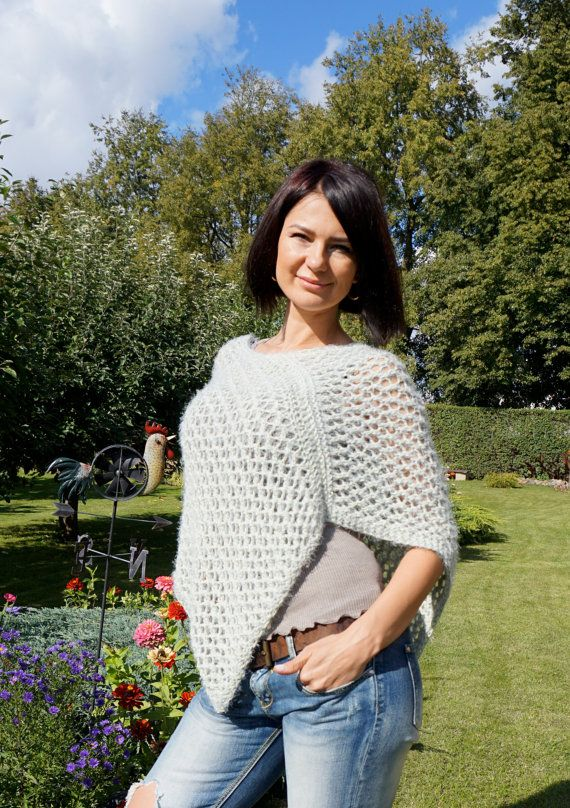 Hand knitted poncho / Lana Grossa Exclusive Yarns / by Imunde