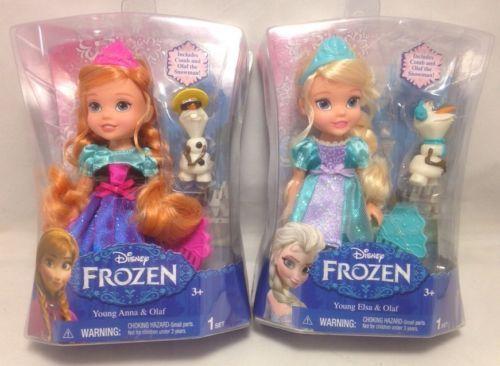 Disney Princess Frozen Toddler ELSA and ANNA Dolls  OLAF Snowman Comb 6 inch