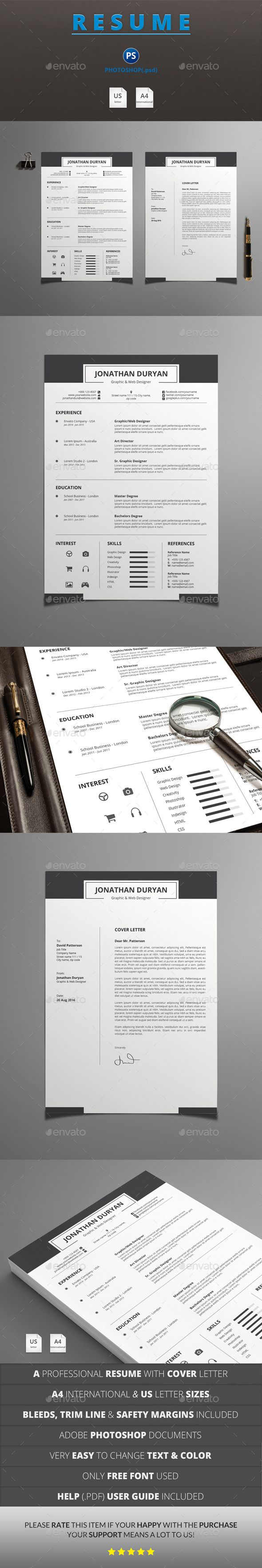 Resume Templates PSD 49 best Resumes