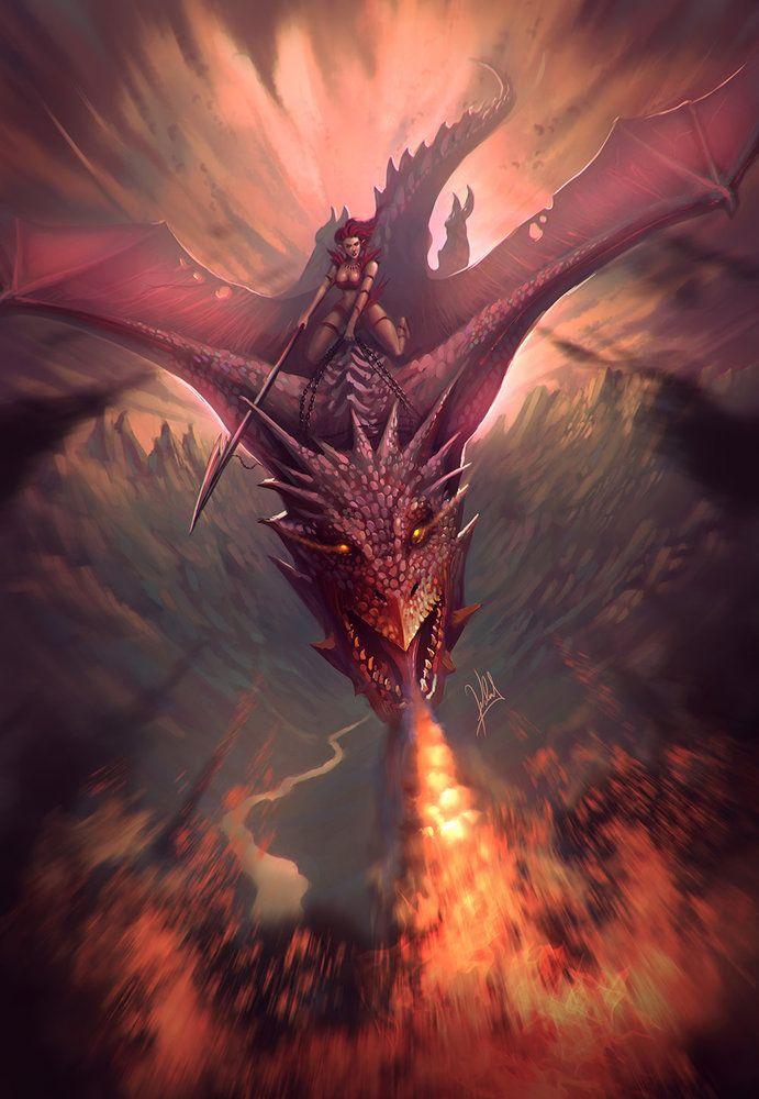 Jinete de Dragon por alejdark - Criaturas | Dibujando.net