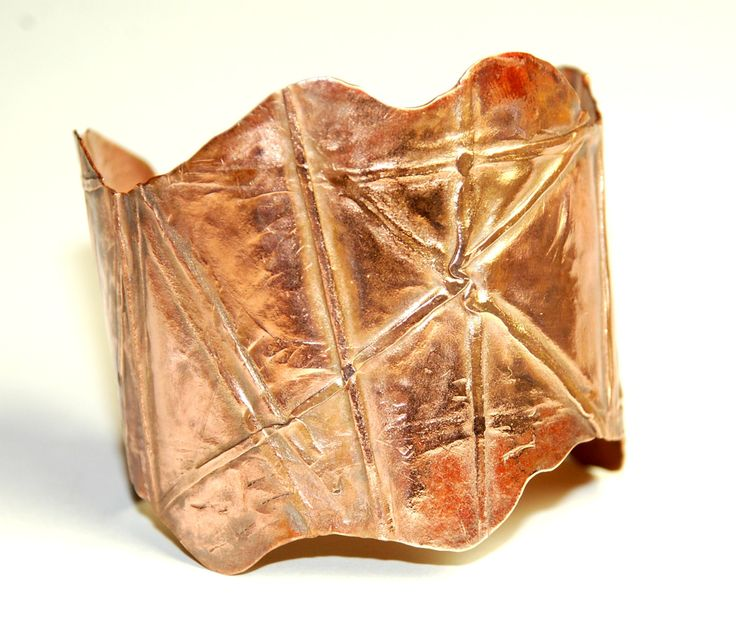 Fold Formed Copper Cuff Bracelet - Metalwork - Unique Jewelry - OOAK - Rustic - Hand Crafted by ELEVEN13 on Etsy
