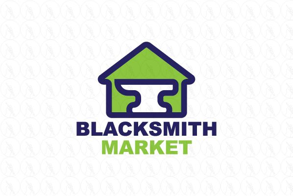 Blacksmith Market - $150 (negotiable) http://www.stronglogos.com/product/blacksmith-market #logo #design #sale #real #estate #house #business #blacksmith #supplies #shop