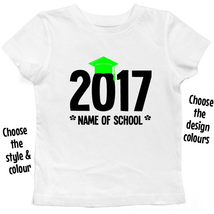 Graduating *Year* with Custom Text T Shirt or Hoodie