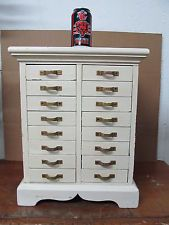 Vintage Antique Apothecary Spice Medical Medicine Cabinet Cupboard Chest Drawer