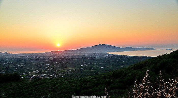 Yay!.. The Sunrise! This week I managed to get up the hill in time to see the sunrise over mainland Greece.
