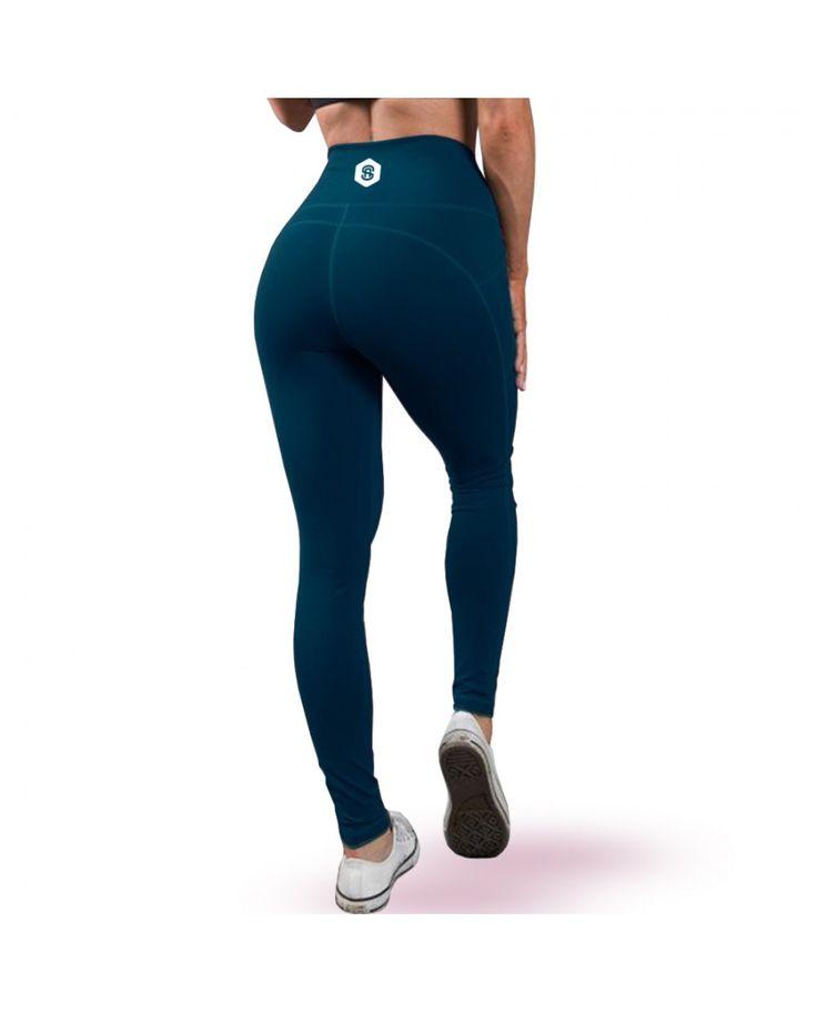 Delilah High Waisted Gym Leggings - Navy